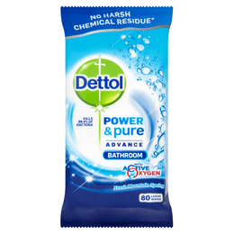 Dettol Power & Pure Bathroom Wipes 80s